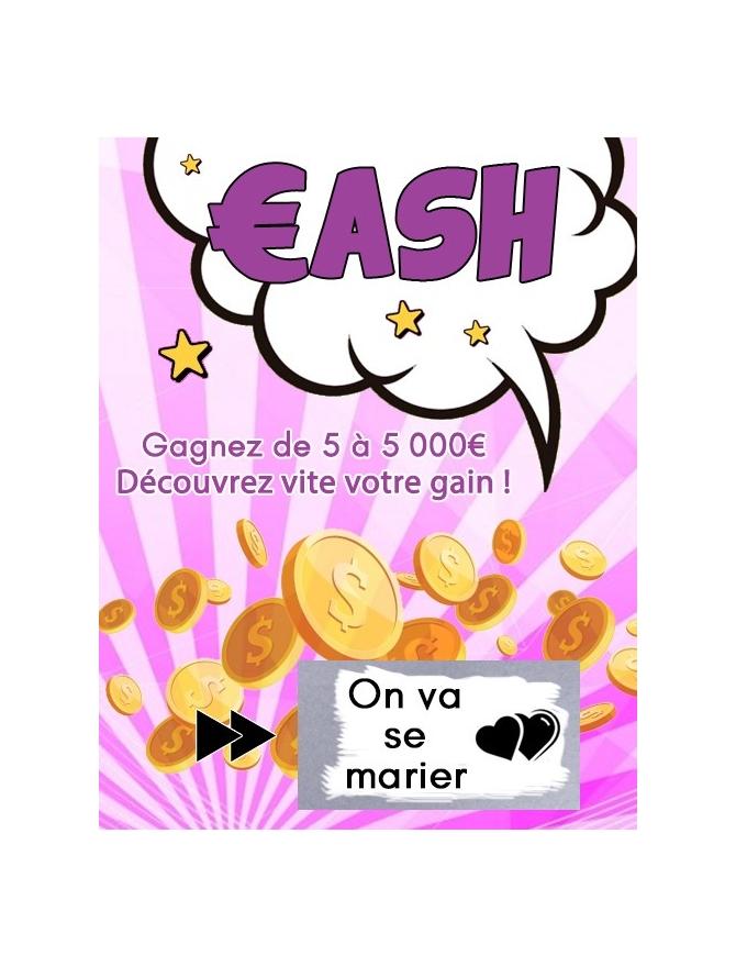 """Carte à gratter """"on va se marier"""""""""""