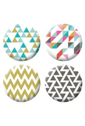 Badges géométrique scrapbooking