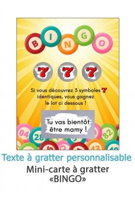 """Mini-carte à gratter """"Bingo"""" pour annonce ou demande originale"""