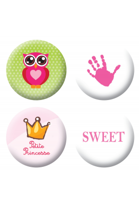 Badges filles scrapbooking