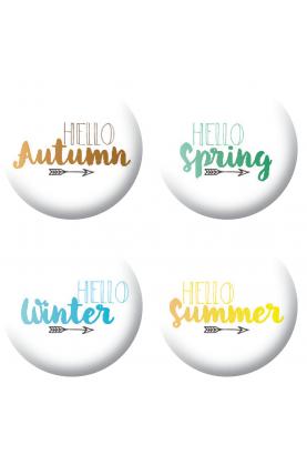 Badges saisons scrapbooking