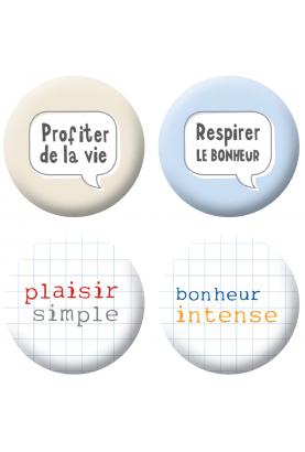 Badges textes et bulles scrapbooking