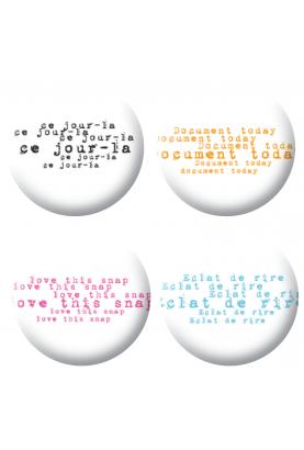 Badges textes déstructuré scrapbooking