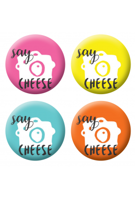Badges say cheese scrapbooking