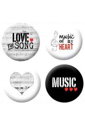 Badges musique scrapbooking