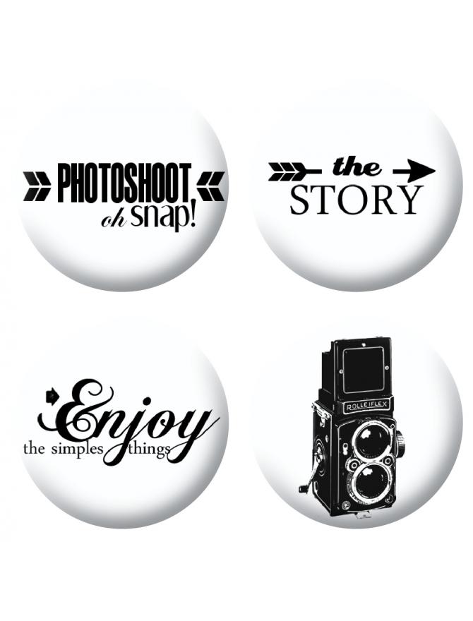 Badges photoshoot scrapbooking