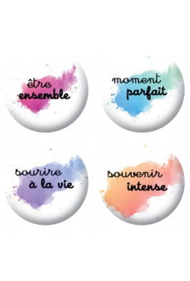 Badges textes taches scrapbooking