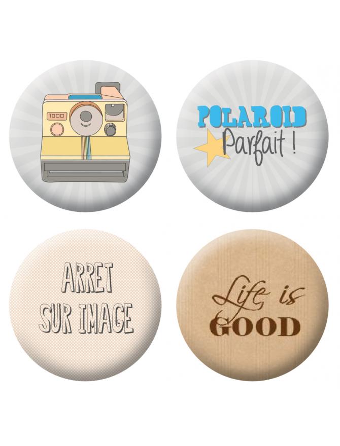 Badges polaroid