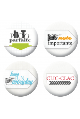 Badges clic clac scrapbooking