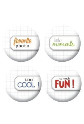 Badges étiquettes mots scrapbooking