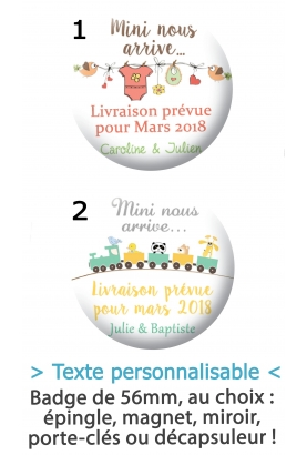 Badge à personnaliser mini nous arrive