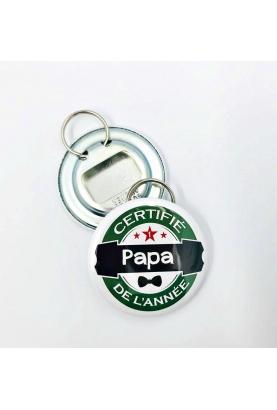 Badge à personnaliser décapsuleur papa de l'année