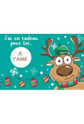 """Carte à gratter """"Noël"""" pour annonce ou demande originale"""