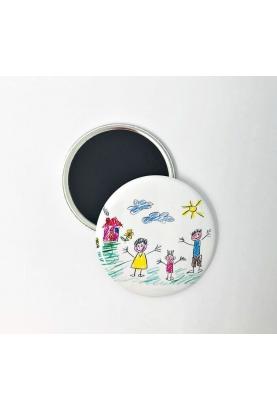 Badge avec le dessin de votre enfant