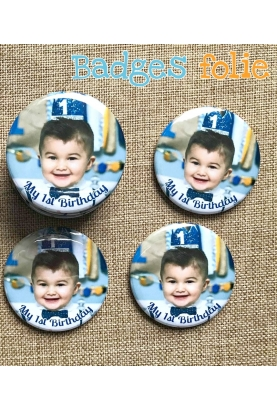 Badge personnaliser photo magnet