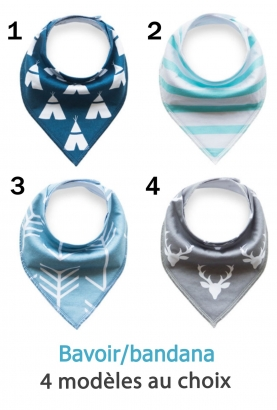 Bavoir triangle style bandana - garçon