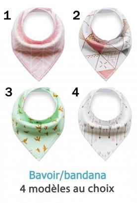 Bavoir triangle style bandana - fille