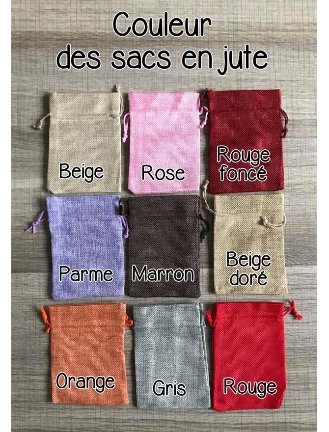 Un sac en jute couleur au choix
