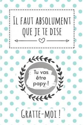 """Carte à gratter """"tu vas être papy !"""""""