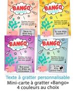 """Mini-carte à gratter """"Bango"""" pour annonce originale"""