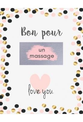 """Carte à gratter saint valentin """"bon pour un massage"""""""
