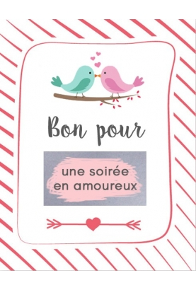 """Carte à gratter """"Bon pour une soirée en amoureux"""""""