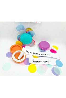 Macaron surprise pour annonce ou demande originale