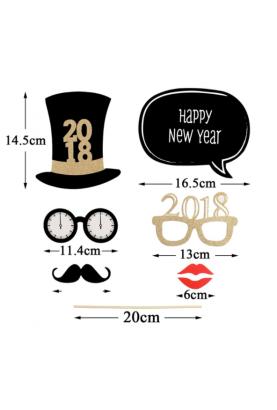 accessoires photobooth pour la nouvelle année 2018