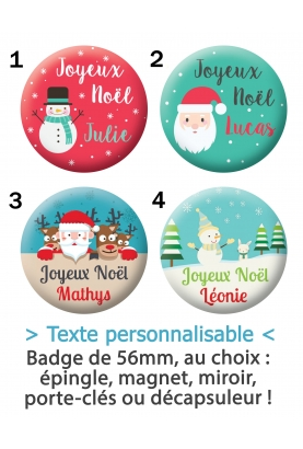 Badge noël à personnaliser
