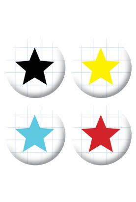 Badges étoiles scrapbooking