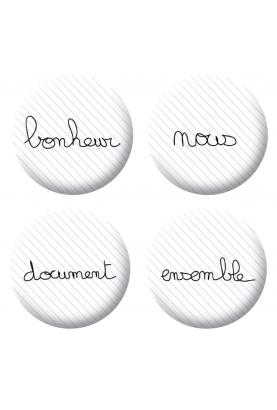Badges mots loisirs créatifs