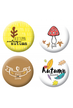Badges automne scrapbooking