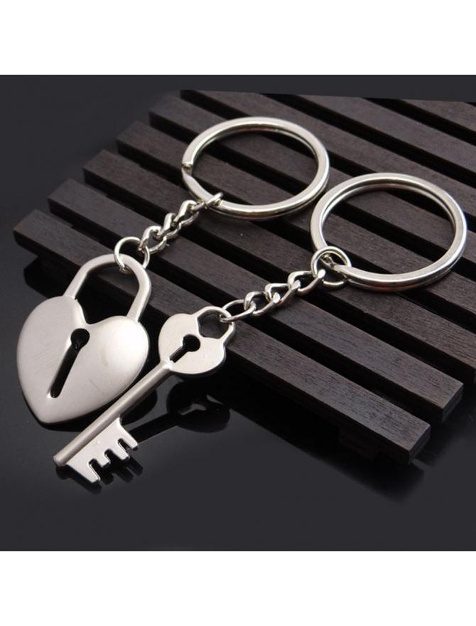 porte-clés cœur et clé