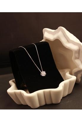 Collier fine chaîne avec cristaux de Swarovski