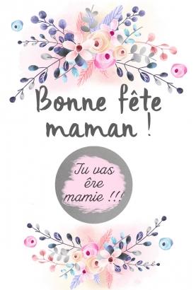 """Carte à gratter """"Bonne fête maman !""""."""
