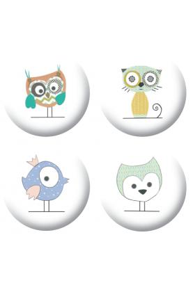 Badges animaux mignons  loisirs créatifs