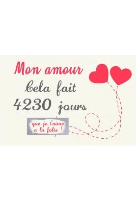 """Carte à gratter """"Amour"""" pour votre amoureux(se) personnalisable"""