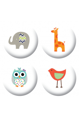 Badges animaux mignons scrapbooking