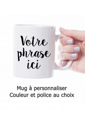 Mug personnalisable - couleur et police au choix