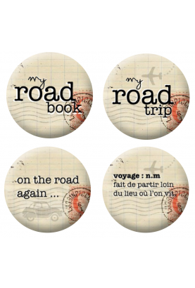 Badges road trip scrapbooking