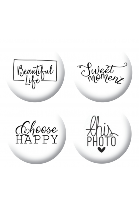 Badges textes scrapbooking