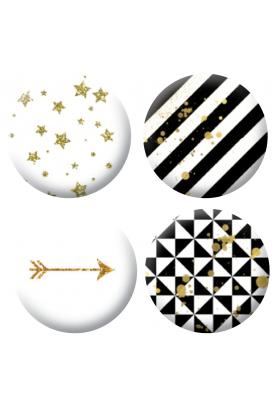 Badges noir et doré scrapbooking
