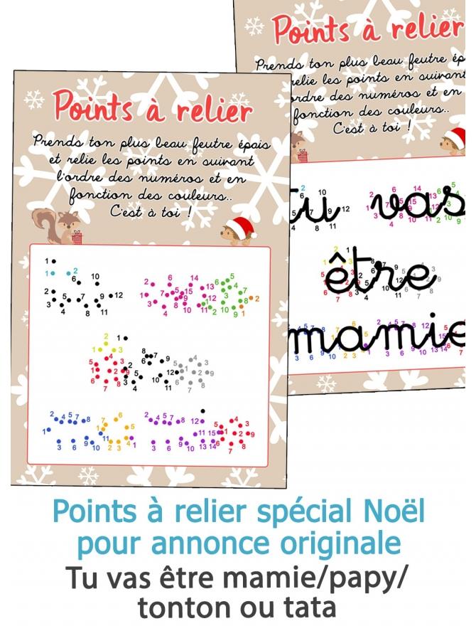 Points à relier spécial Noël pour annonce originale