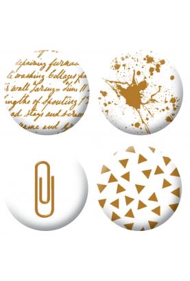 Badges dorés scrapbooking