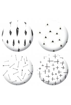 Badges géométrique noir scrapbooking