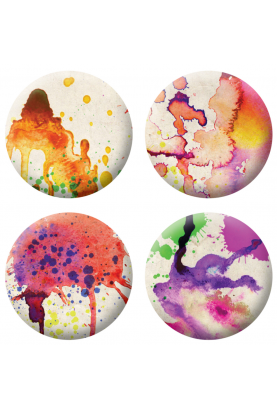 Badges taches colorés scrapbooking