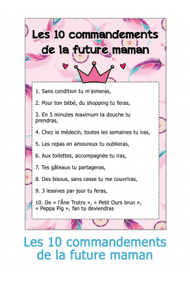 Les 10 commandements de la future maman