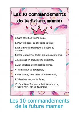Les 10 commandements de la future maman