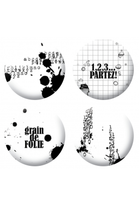 Badges grain de folie scrapbooking