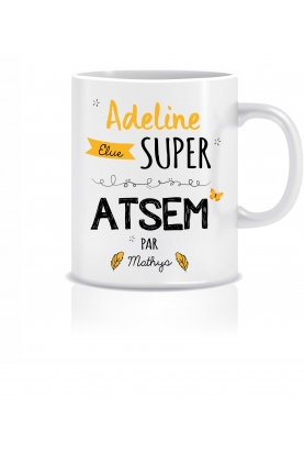 Mug personnalisable super ATSEM